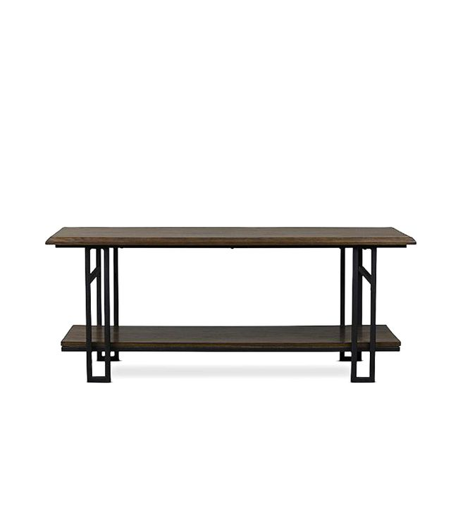 Baxton Studio Newcastle Wood and Metal Coffee Table