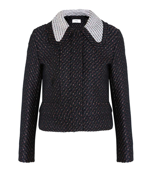 Carven Cropped Boucle-Tweed Jacket
