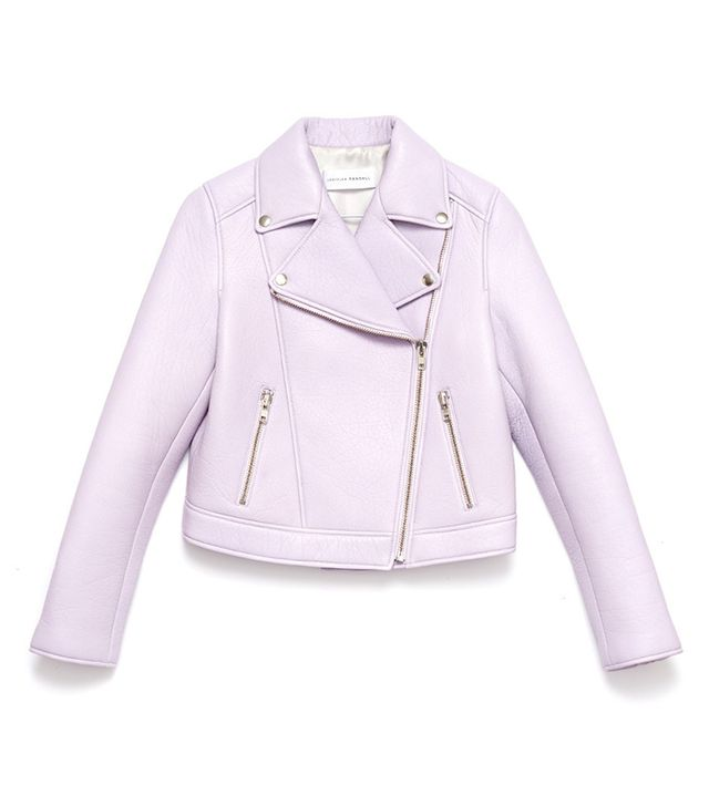 Loeffler Randall Foam Leather Moto Jacket