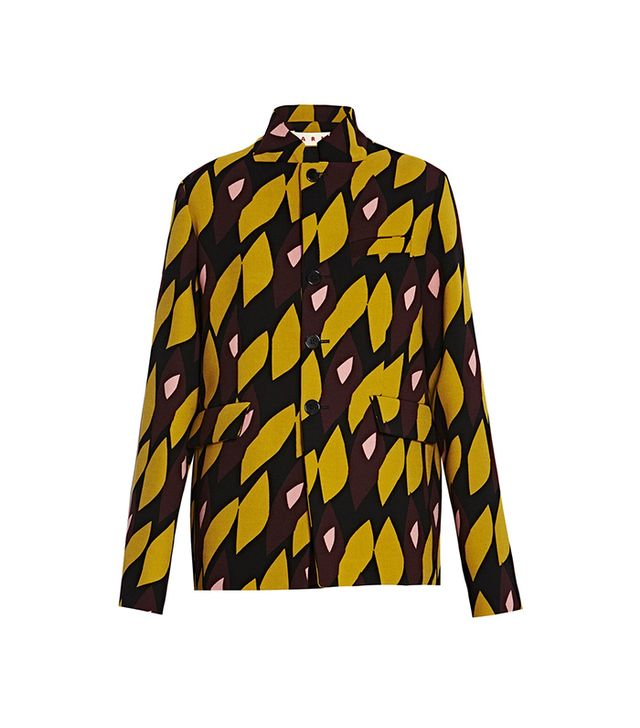 Marni Yellow Geometric Jacket