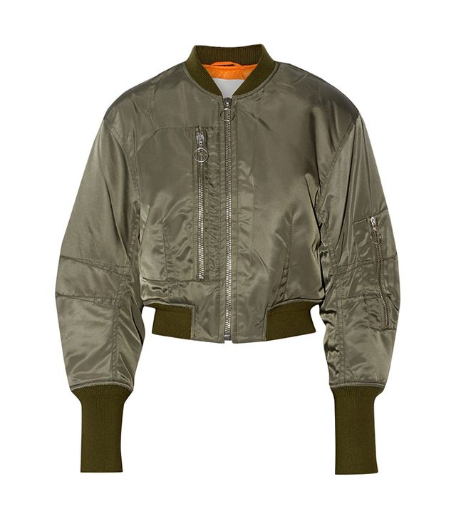 3.1 Phillip Lim Cropped Shell Flight Jacket