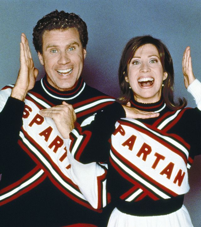 Will Ferrell & Cheri Oteri as the Spartan Cheerleaders Halloween costumes.
