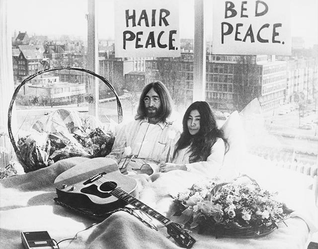 John Lennon & Yoko Ono Halloween costume.