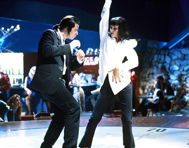 Vincent Vega & Mia Wallace From Pulp Fiction Halloween costumes.