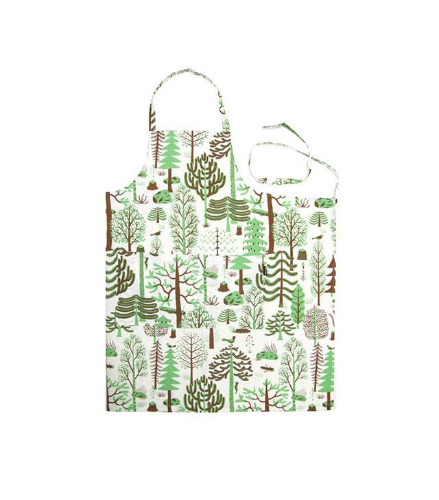 Artsy Modern Kauniste-Metsa Green Apron
