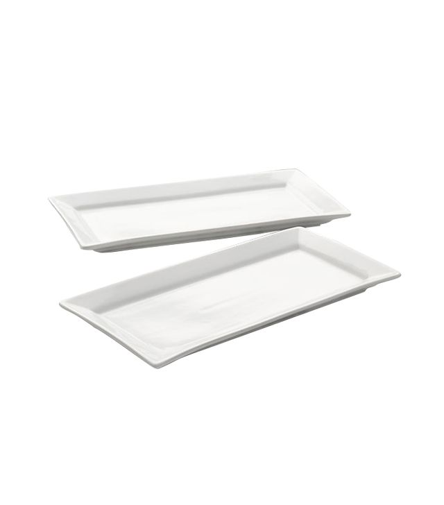 Crate & Barrel Cambridge Server Plates Set of 2