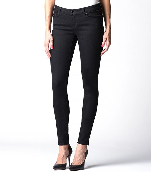 DSTLD Low Rise Skinny Jeans in Black Powerstretch