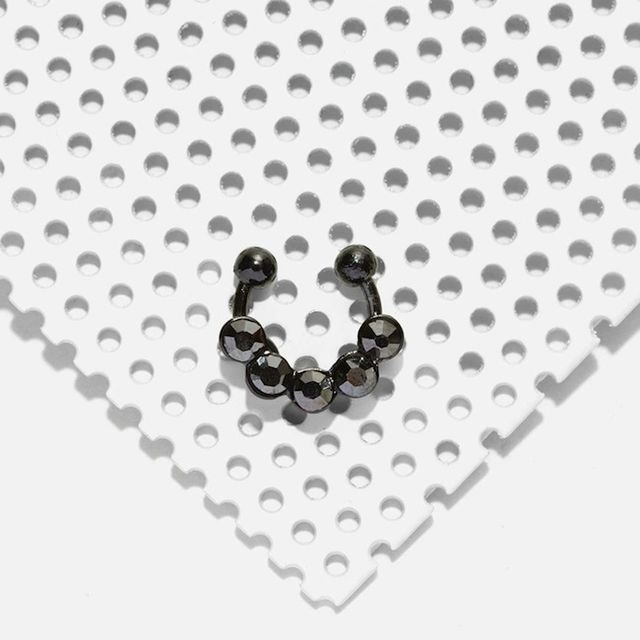 Nasty Gal Gold as Ice Ear/Septum Cuff in Gunmetal