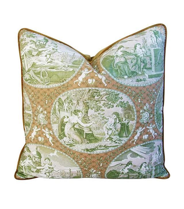 Vintage Scalamandré Cupido Toile Pillows
