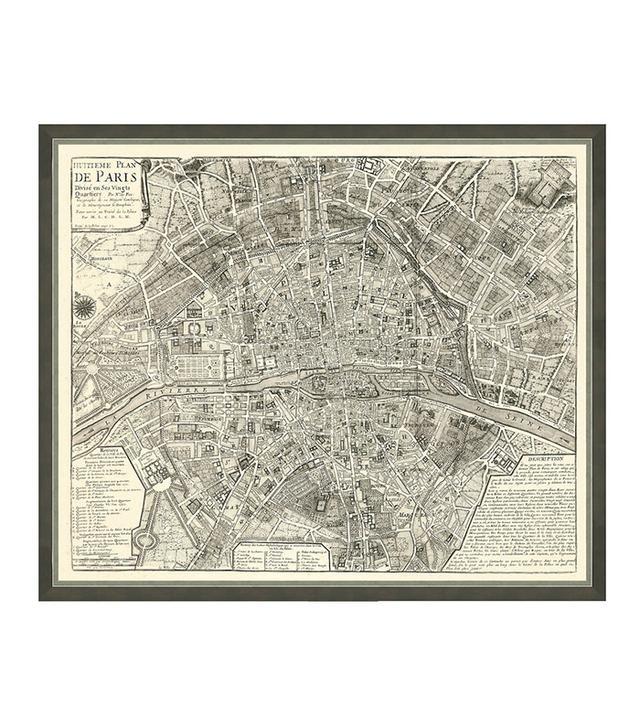 Vintage Map of Paris