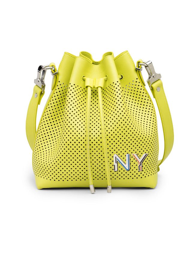 Proenza Schouler Sulphur Perforated Leather Small Bucket Bag