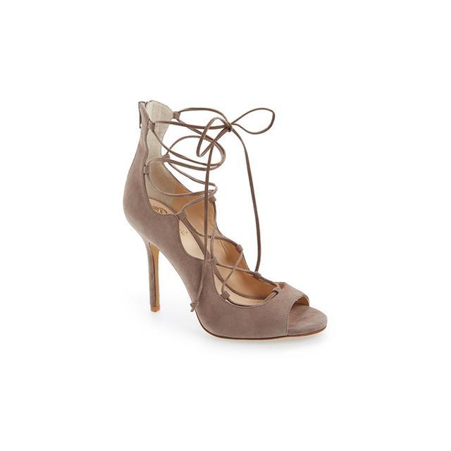 Vince Camuto Sandria Lace-Up Peep Toe Sandal