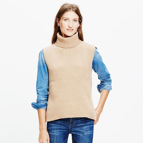 Contour Turtleneck Layering Vest