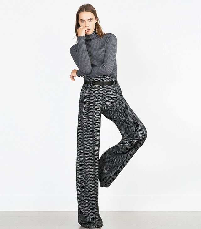 Zara Herringbone Trousers