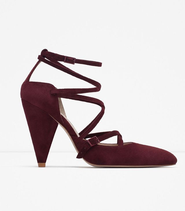 Zara Pointed Leather High Heels
