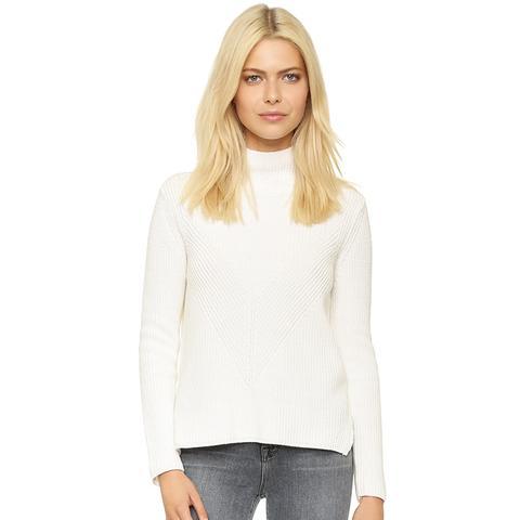 Shaker Mock Neck Sweater