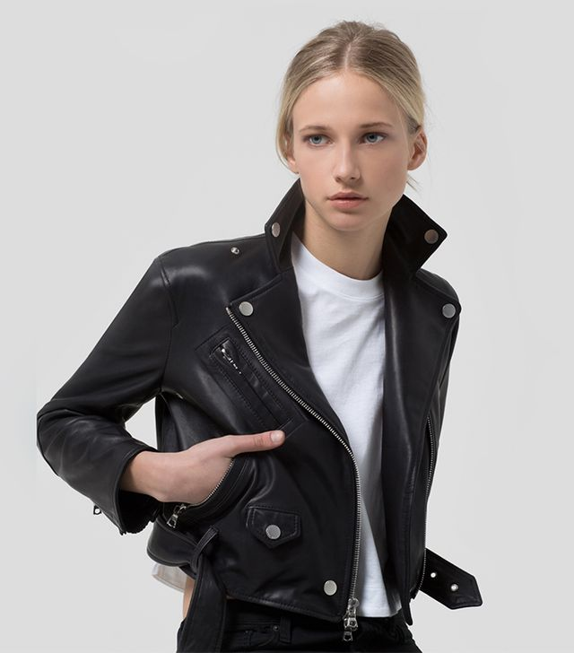 The Arrivals Vader Cropped Leather Jacket