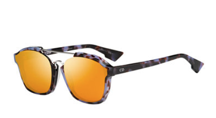 Dior Square Abstract Havana Sunglasses