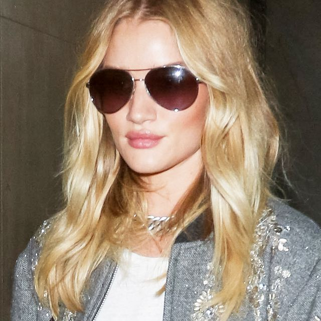 Rosie Huntington-Whiteley Shows Us the Perfect Airport Layering Piece