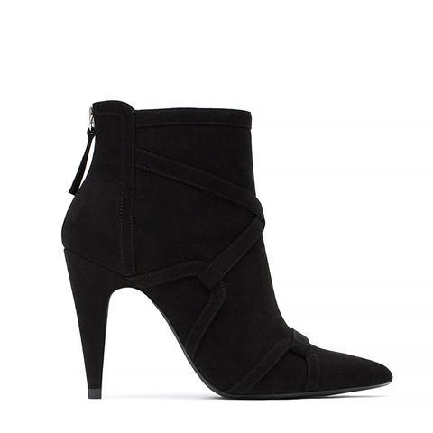 High Heel Rocker Ankle Boots