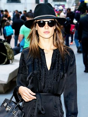 Alessandra Ambrosio Has a Genius Day-to-Night Dressing Trick