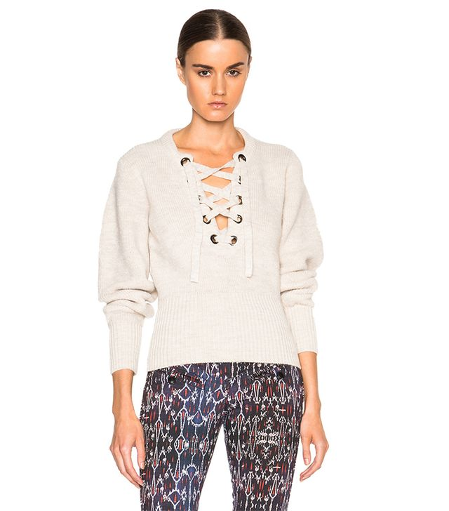 Isabel Marant Charley Lace-Up Sweater