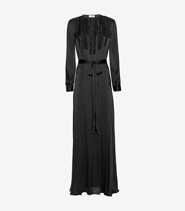 L'Agence Lorena Ruffle Front Gown