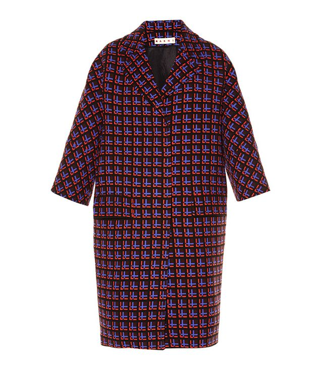 Marni Windowpane-Print Wool Coat
