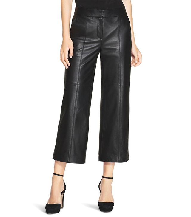 White House Black Market Leather Culottes