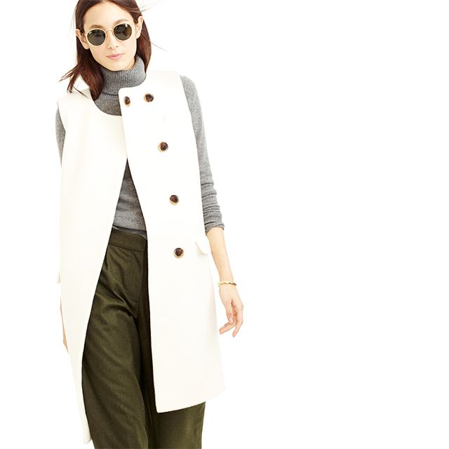 J.Crew Collection Double-Faced Italian Wool Sleeveless Coat