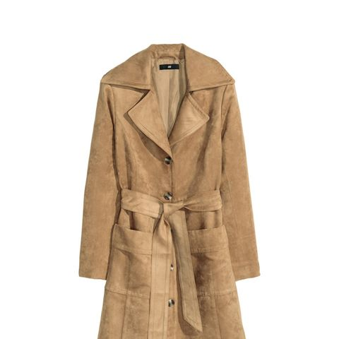 Coat in Imitation Suede