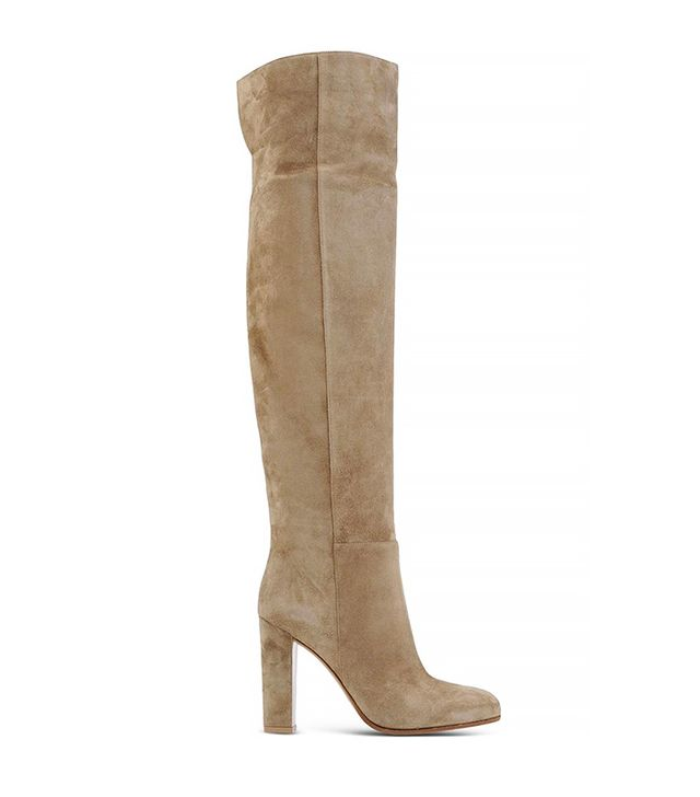 Gianvito Rossi Suede Over-the-Knee-Boot