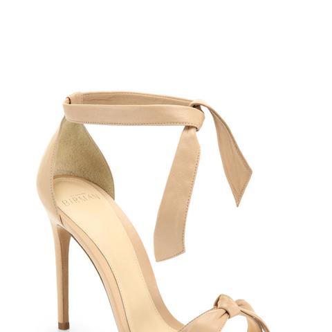 Clarita Leather Ankle-Tie Sandals