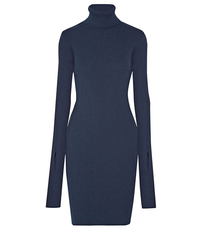 Jacquemus Ribbed-Knit Turtleneck Dress