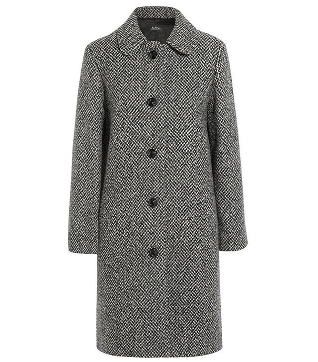 A.P.C. Peel Wool-Blend Tweed Coat