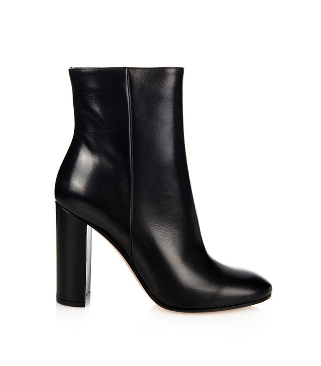 Gianvito Rossi Rolling Leather Ankle Boots