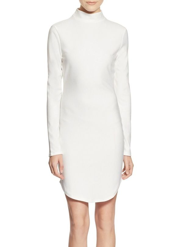 Missguided Mock Neck Sheath Dress