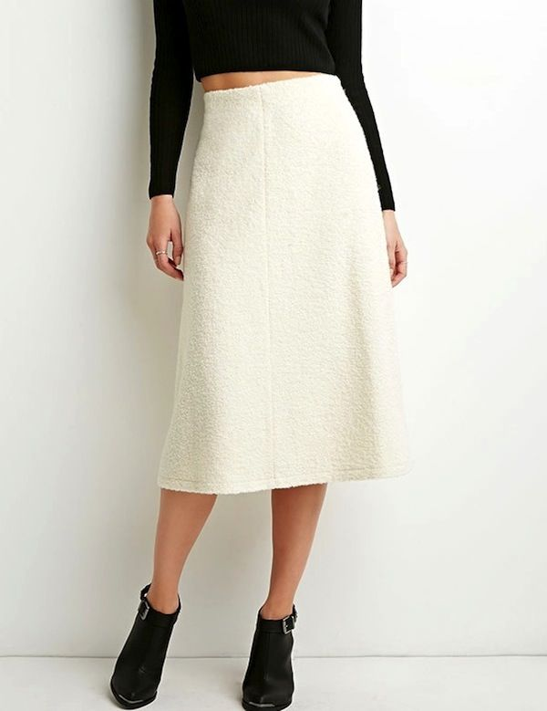 Forever 21 Contemporary A-Line Midi Skirt