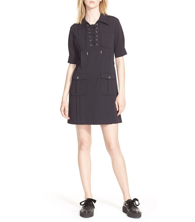 Marc by Marc Jacobs Jersey Twill Lace-Up Dress