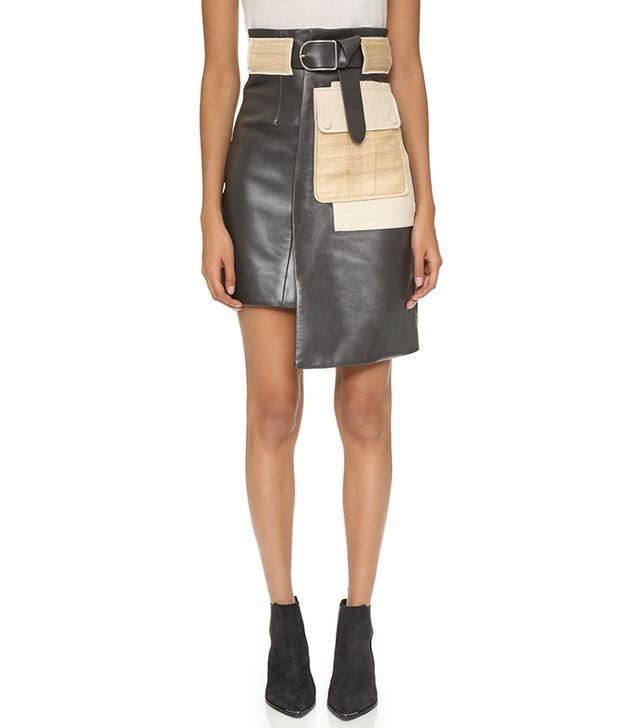 Acne Studios Leino Leather Skirt
