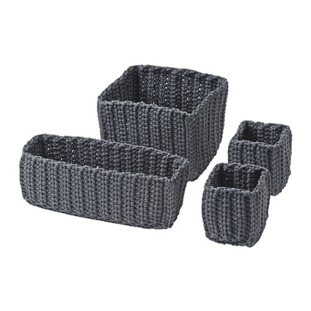 IKEA Set of 4 Nordana Baskets