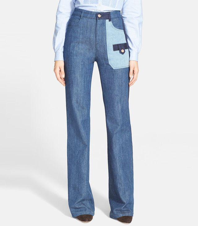 See by Chloé Patchwork Jeans