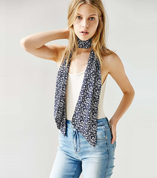 Urban Outfitters Silky Skinny Scarf