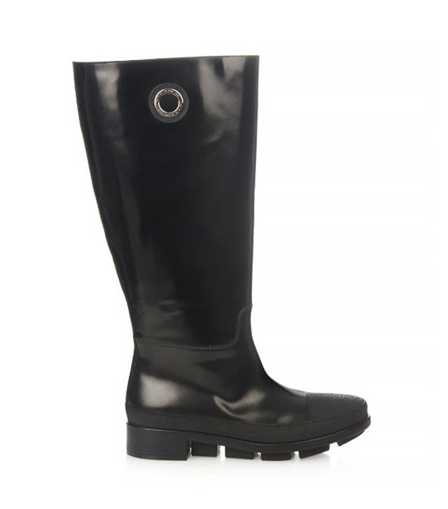 Balenciaga River Smooth-Leather Rain Boots