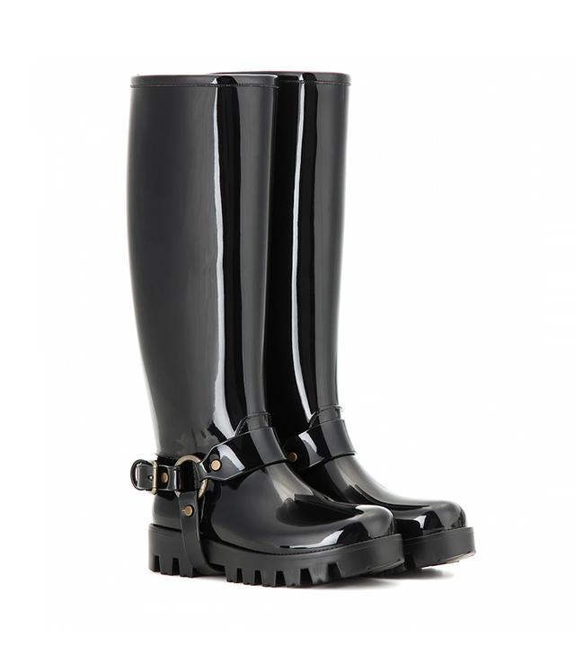 Dolce & Gabbana Rain Boots Rubber Knee-High Boots
