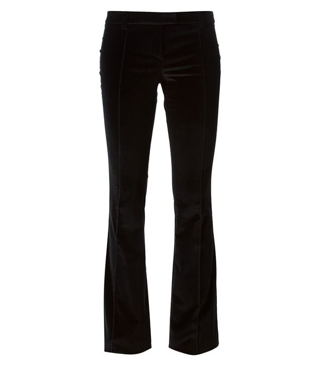 Barbara Bui Boot Cut Velvet Trousers