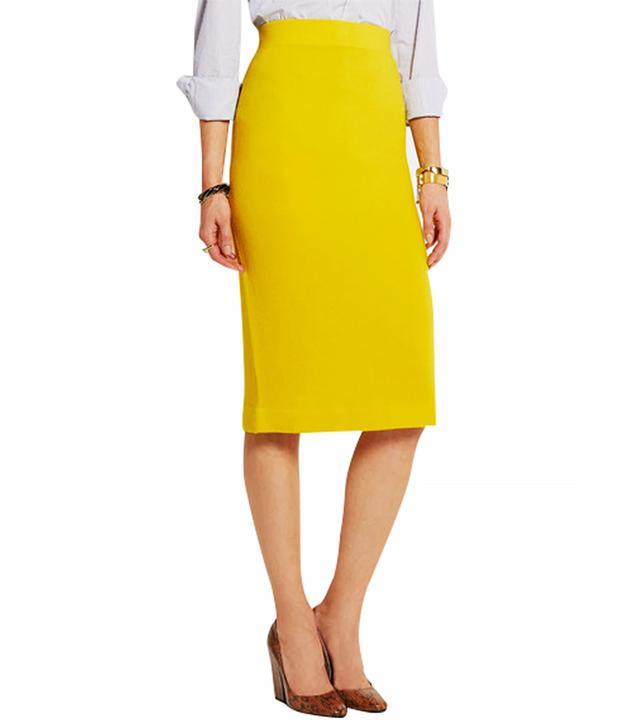 J.Crew Albee Merino Wool-Jersey Skirt