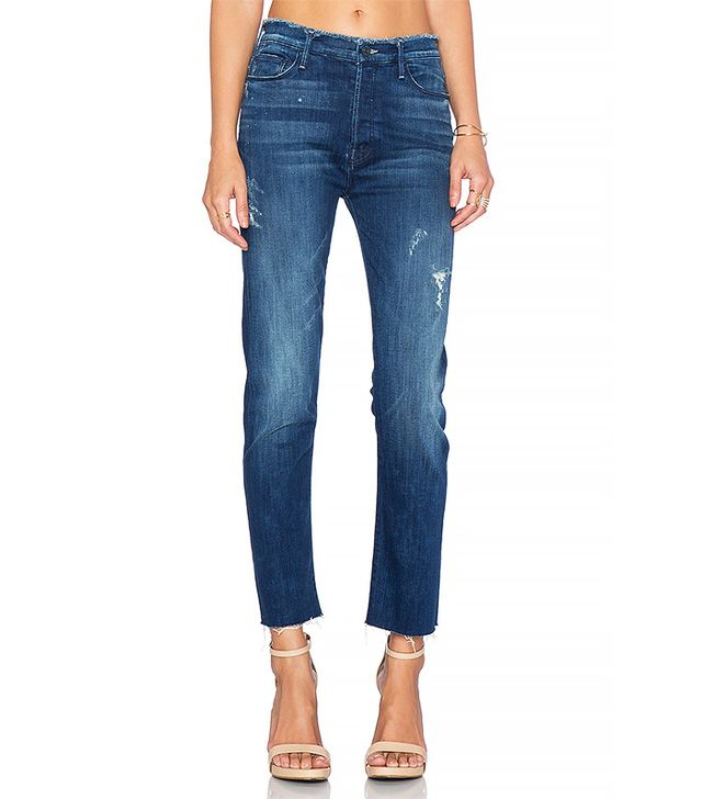 Mother Double-Fray Vagabond Jeans