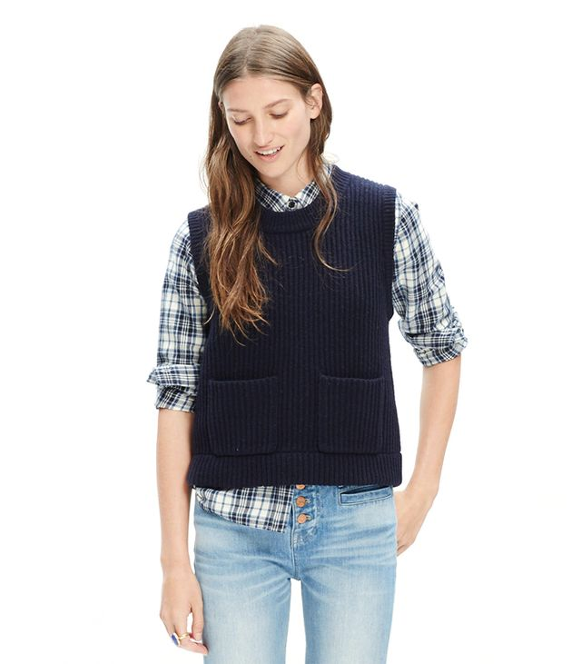 Madewell Merino Ribbed Sweater Vest
