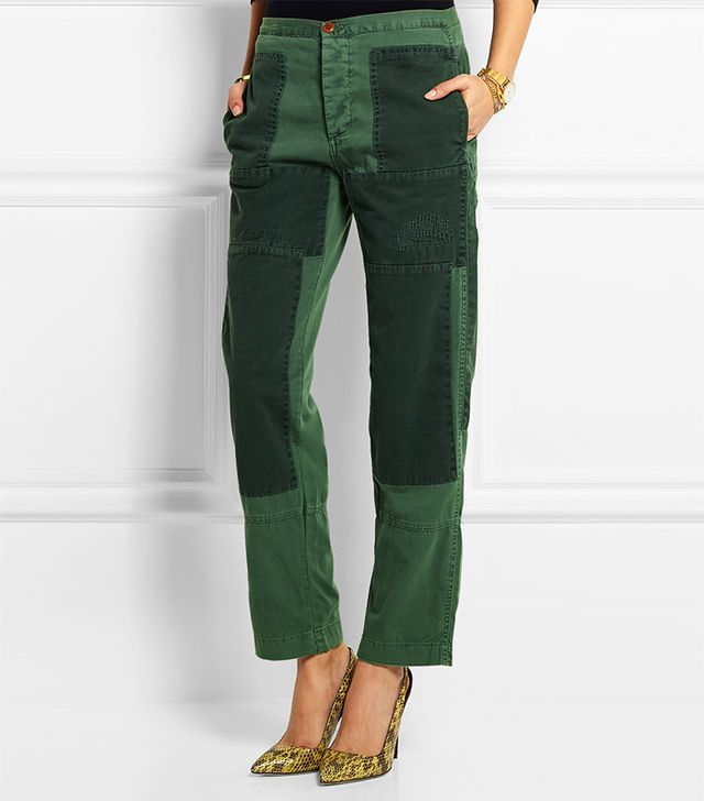 J.Crew Patchwork Cotton-Twill Pants